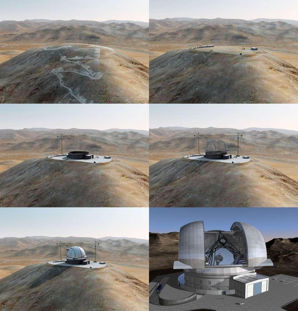 L'E-ELT, le fleuron de l'ESO, est un télescope géant de 42 mètres de diamètre qui devrait être opérationnel en 2020. © ESO