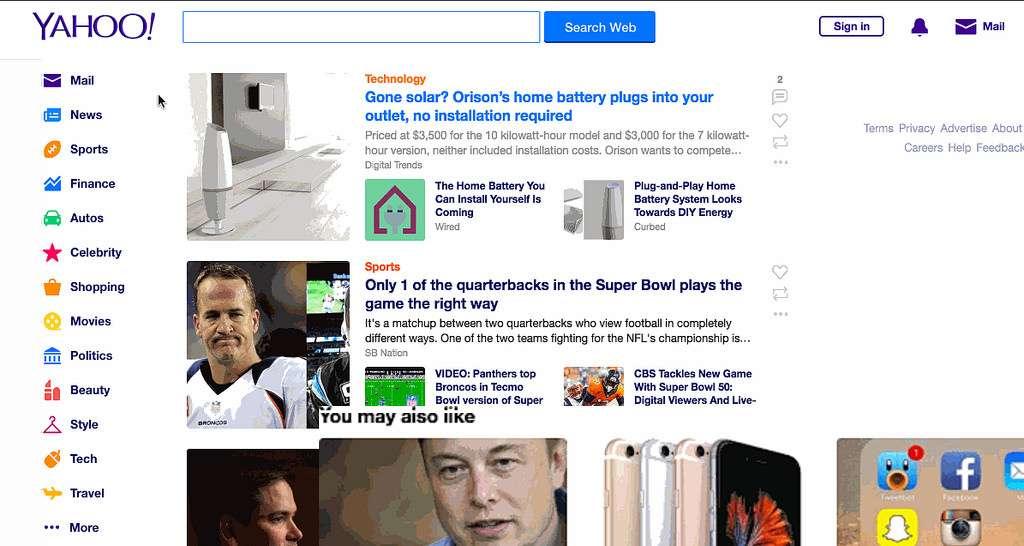 Même s'il n'est plus le géant de l'Internet qu'il était dans les années 1990, le portail Yahoo! et sa messagerie sont toujours très populaires. © Yahoo!