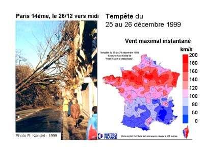 Figure 9 - La tempête du 25-26 décembre 1999.
