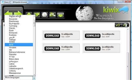 Kiwix est téléchargeable en 253 langues.