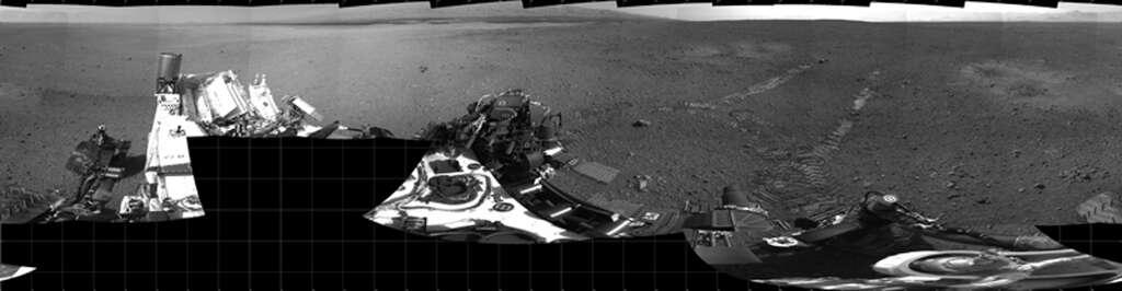 Traces de roues de Curiosity
