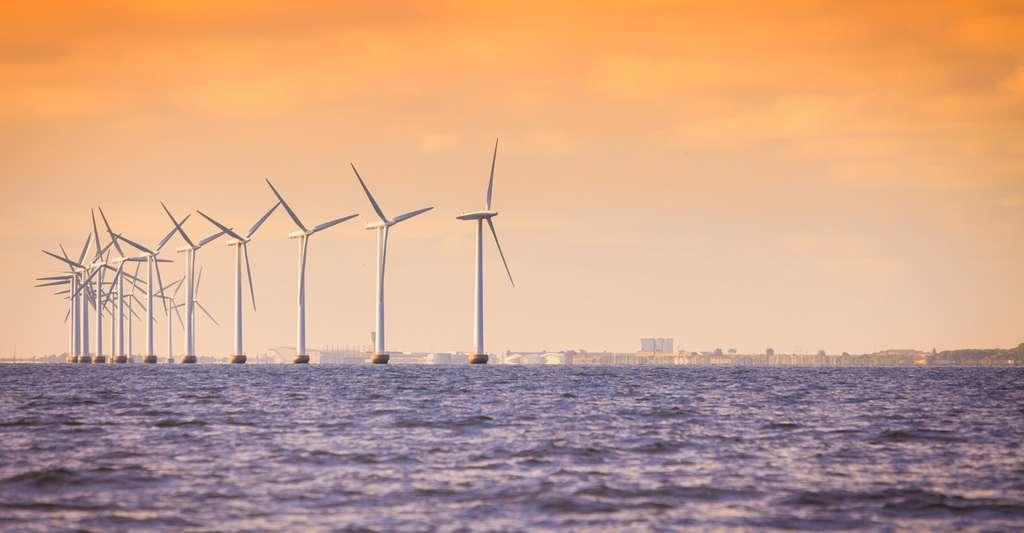 La plupart des pales d'éoliennes sont fabriquées à partir de matériaux composites, à la fois légers et solides. Un avantage encore plus important lorsque l'on envisage de fabriquer des éoliennes de très grande taille pour la production offshore. © Voyagerix, Fotolia