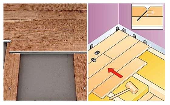La mise en place des lattes de plancher. © Bémart parquets © Castorama