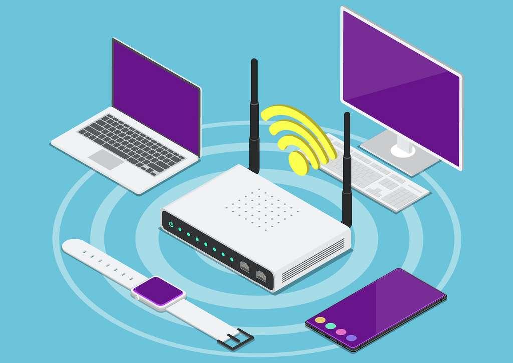Le routeur distribue le signal Internet aux différents appareils. © Jiw Ingka, Adobe Stock