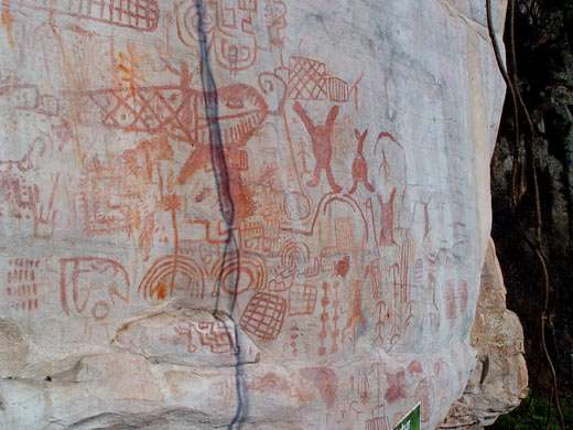 Figure 6 : paroi peinte à Faical (dép. de Cajamarca). © J. Guffroy, reproduction et utilisation interdites