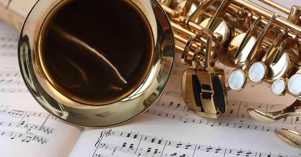 Pourquoi aime-t-on la musique ? Ici, un saxophone et une partition. © Schuetz-mediendesign, Pixabay, DP