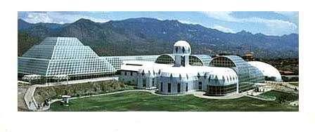 Biosphère II en lisière du désert d'Arizona étudie l'impact du gaz carbonique sur la biosphère terrestre et les interactions entre tous ses composants. Aujourd'hui la pression partielle de gaz carbonique y est de 571 ppm (contre environ 400 ppm dans l'air), similaire à ce que devrait contenir l'atmosphère terrestre d'ici 70 ans selon les prévisions.