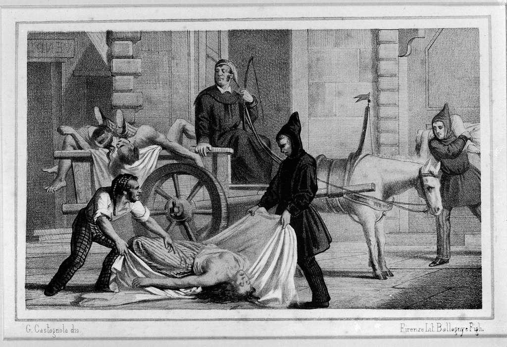 Le choléra à Palerme, Sicile, en 1835. Wellcome Images. © Wikimedia Commons, domaine public.