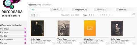 Des textes, des photos, des vidéos et des enregistrements sonores : des millions de documents nous attendent sur Europeana... (Cliquer sur l'image pour l'agrandir et ici pour accéder au site.)