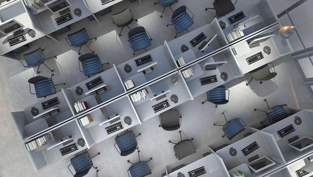 Aller en voiture au bureau pour y travailler sur un ordinateur, et voilà un peu de gaz carbonique diffusé dans l'atmosphère. Il n'est pas impossible de réduire cet apport. © Shutterstock