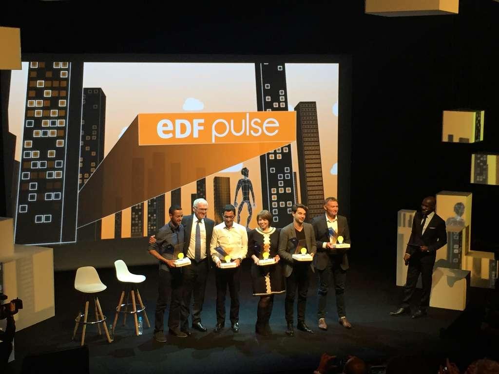 Les lauréats des prix EDF Pulse. © EDF Pulse