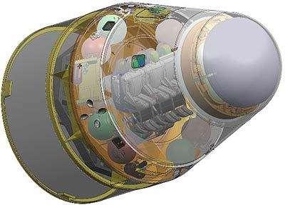 Vue d'artiste de la capsule Dragon en version habitée