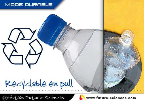 Recyclage du plastique en pull