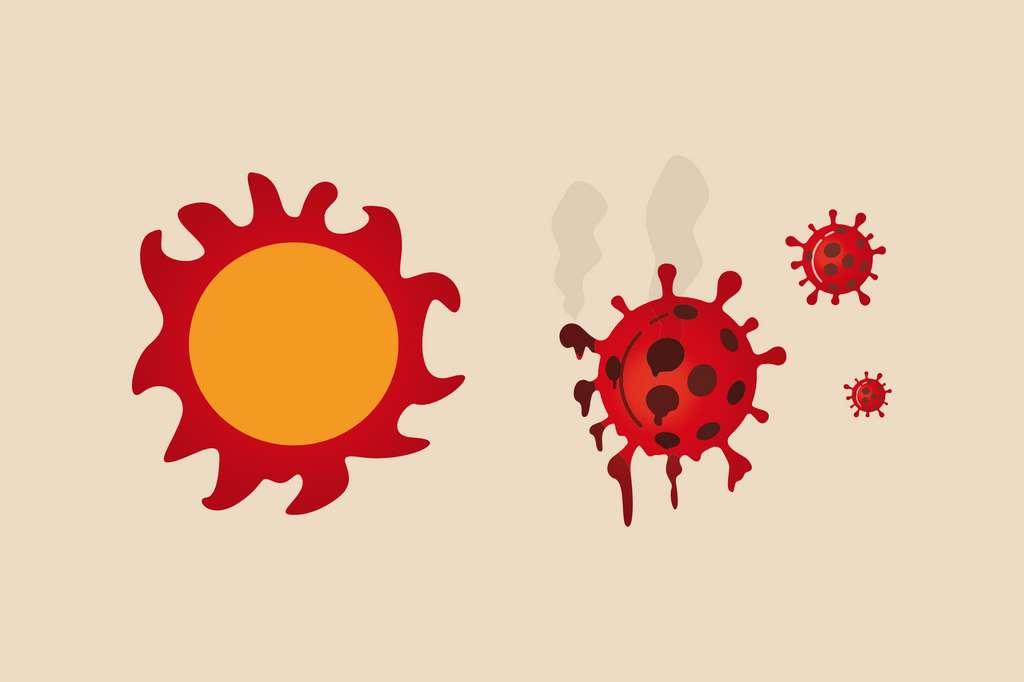 Le coronavirus serait sensible à la chaleur et aux UV. © Nuthawut, Adobe Stock