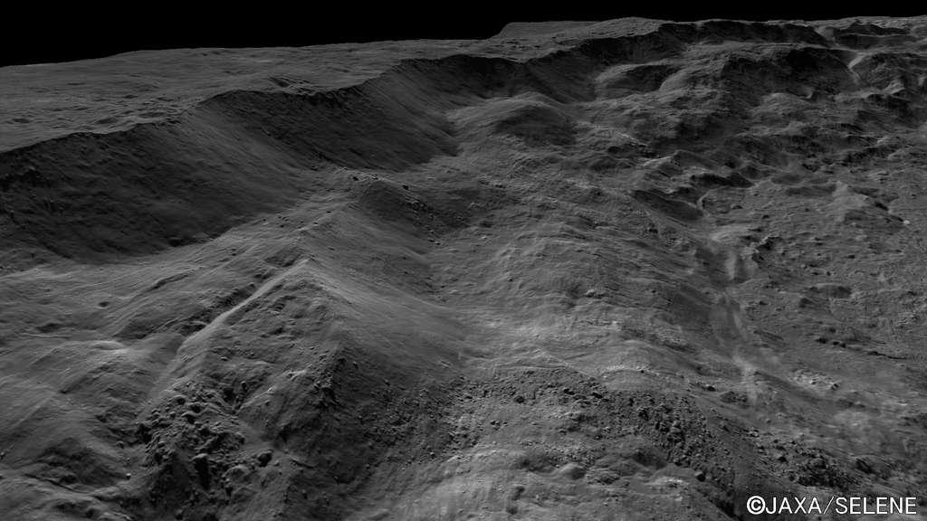 Partie sud-ouest du mur nord du cratère Tycho