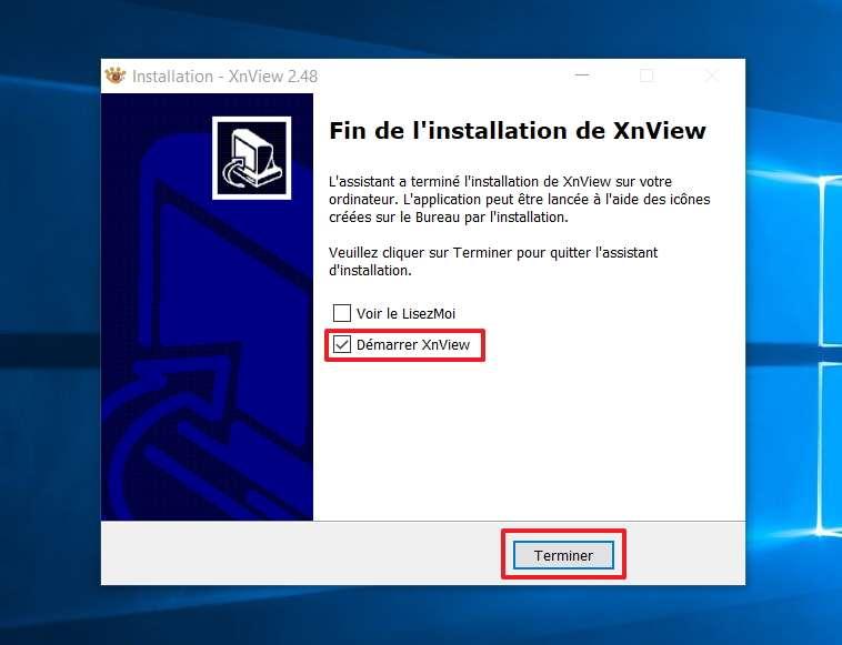 L'installation est terminée et le logiciel va maintenant se lancer. © XnSoft