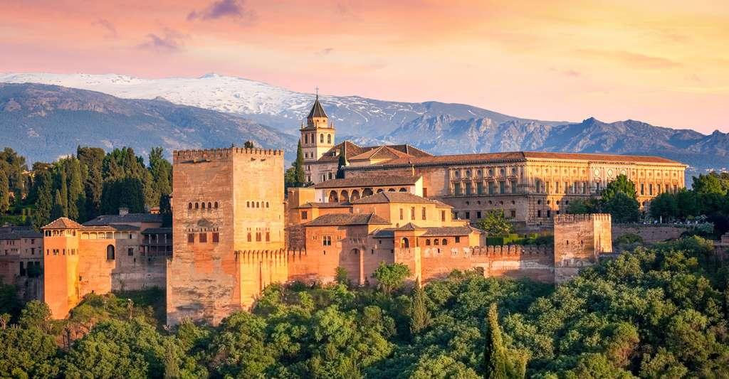 L'architecture de l'Alhambra de Grenade est particulièrement remarquable © Taiga, Fotolia