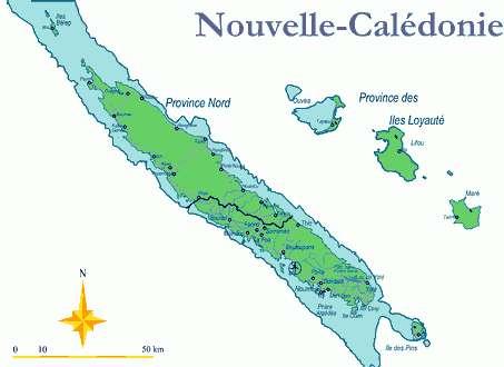 Carte de la Nouvelle-Calédonie (cliquez pour agrandir)