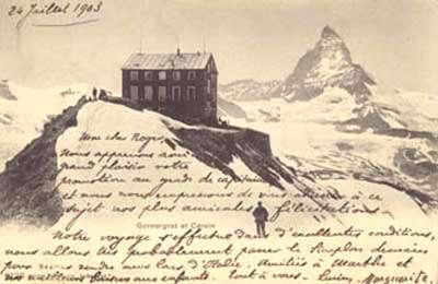 Ancienne carte postale du Cervin - Tous droits de reproduction interdit