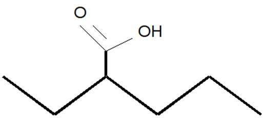 Molécule de valproate. © M.-C Jacquier