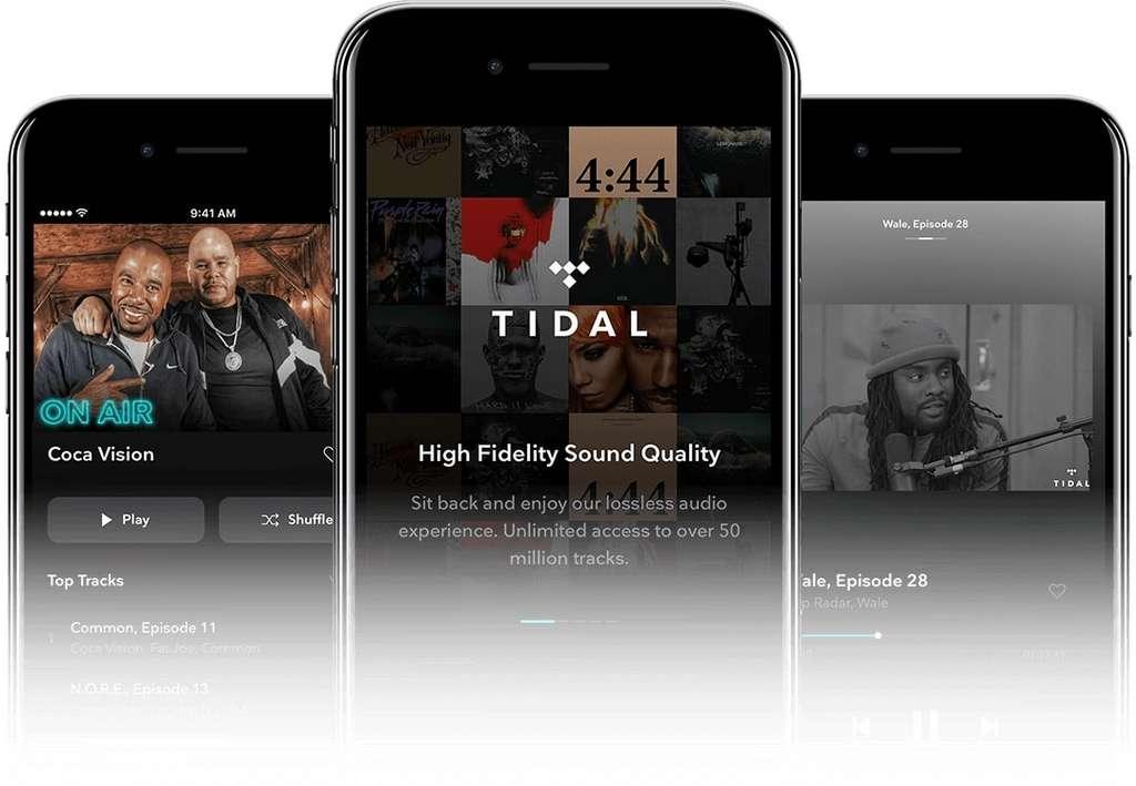 Tidal propose un abonnement avec une qualité sonore haute-fidélité bien meilleure que la concurrence. © Aspiro AB