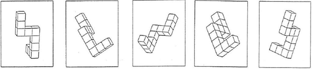 Exemple de test pour réduire le mal des transports, qui consiste à identifier quelle boîte est correctement tournée par rapport aux autres. © WMG, University of Warwick