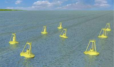 Figure 3 : génératrices d' Ocean Power Technologies