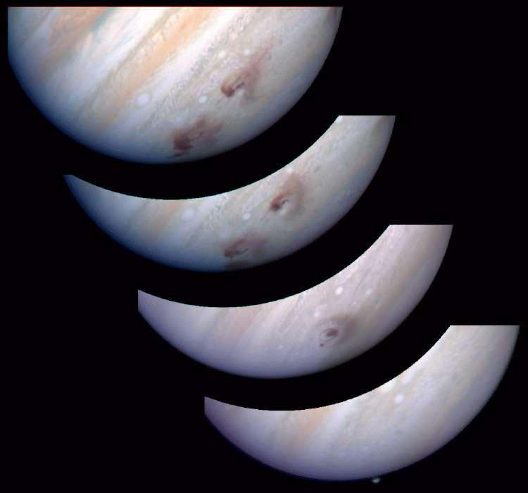 Impacts de la comète Shoemaker-Levy 9 contre la surface de Jupiter. © HST Comet Science Team/Nasa