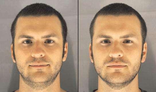 Un même homme est perçu différemment selon qu'il est reposé (à gauche) ou non (à droite). © British Medical Journal