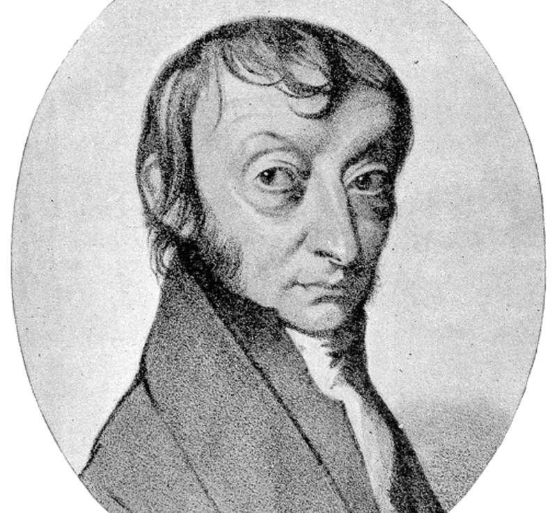 Le nombre d'Avogadro a été baptisé en hommage au physicien et chimiste italien Amedeo Avogadro. © dessin de C. Sentier, Wikipédia, DP