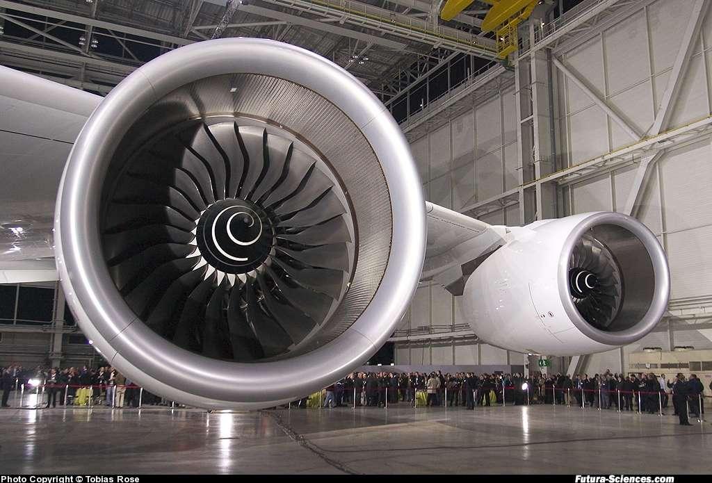 Les immenses réacteurs de l'A380