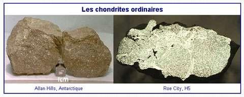 Des chondrites ordinaires. © DR