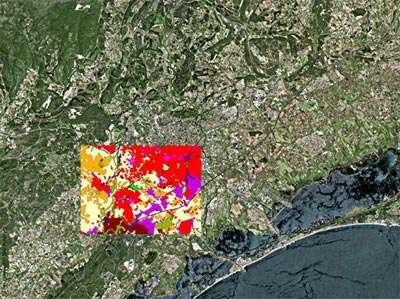 L'imagerie multibande : Région de Montpellier © CNES / Distribution Spot Image