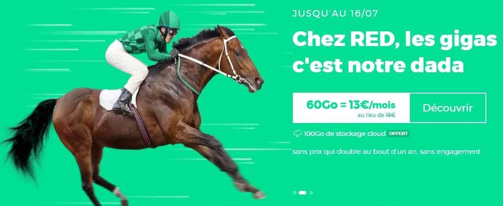 Forfait 60 Go à 13,99 € par mois ! ©RED by SFR