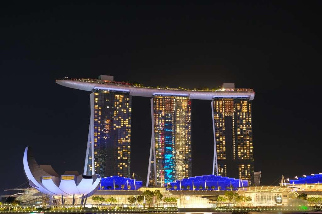 Le Marina Bay Sands Hotel de Singapour. © Geoff Whalan, Flick
