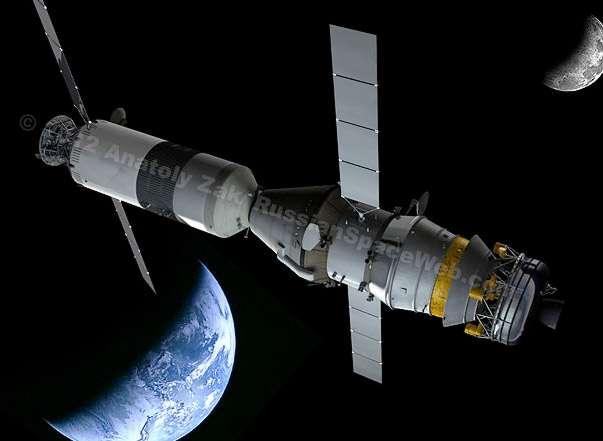 Ces prochaines années, la Russie souhaite développer une nouvelle génération de transport spatial capable de rejoindre la Lune, voire Mars. © Anatoly Zak, 2012