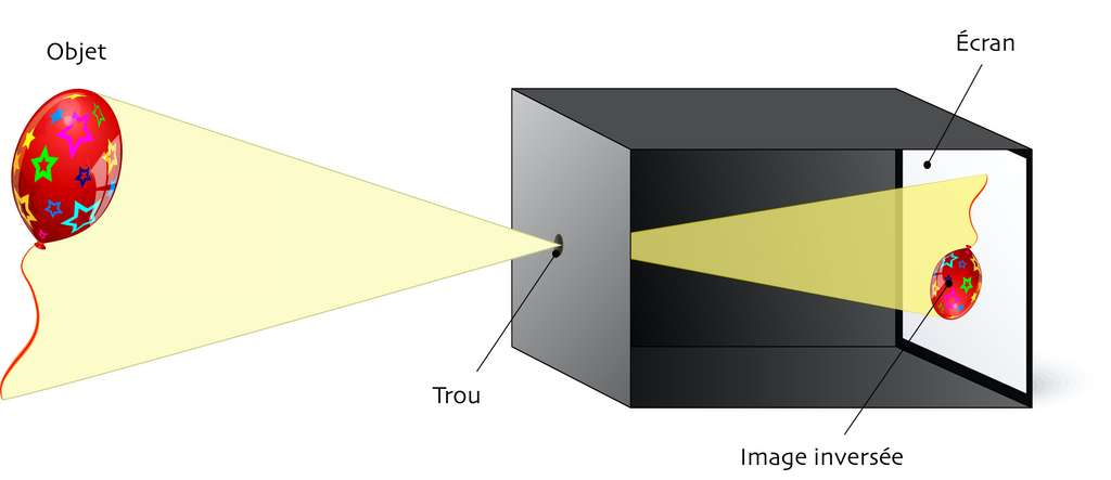 Avec le sténopé, on obtient une image inversée verticalement et horizontalement. © designua, Adobe Stock (traduction et adaptation C.D)