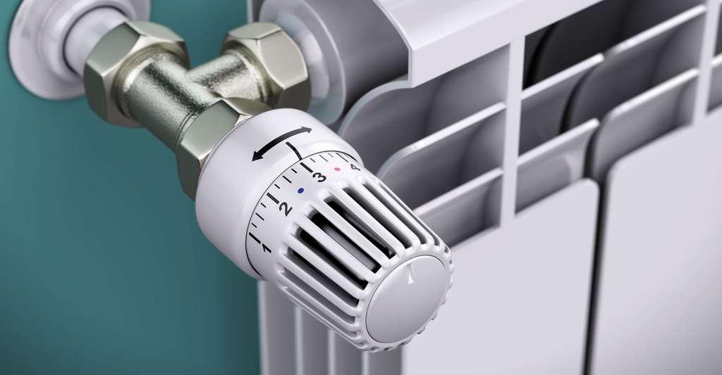 Radiateur avec thermostat. © Sashkin, Shutterstock