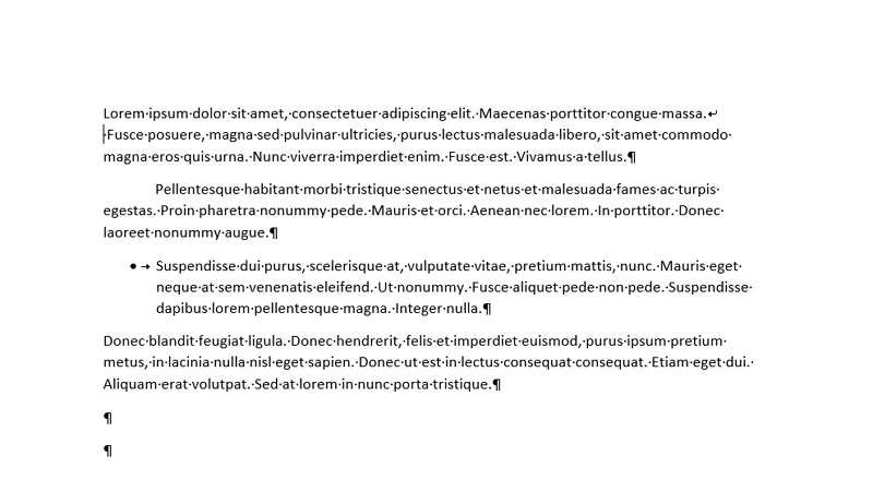 Faites apparaître les caractères cachés afin d'avoir une meilleure visibilité de votre document. © Microsoft