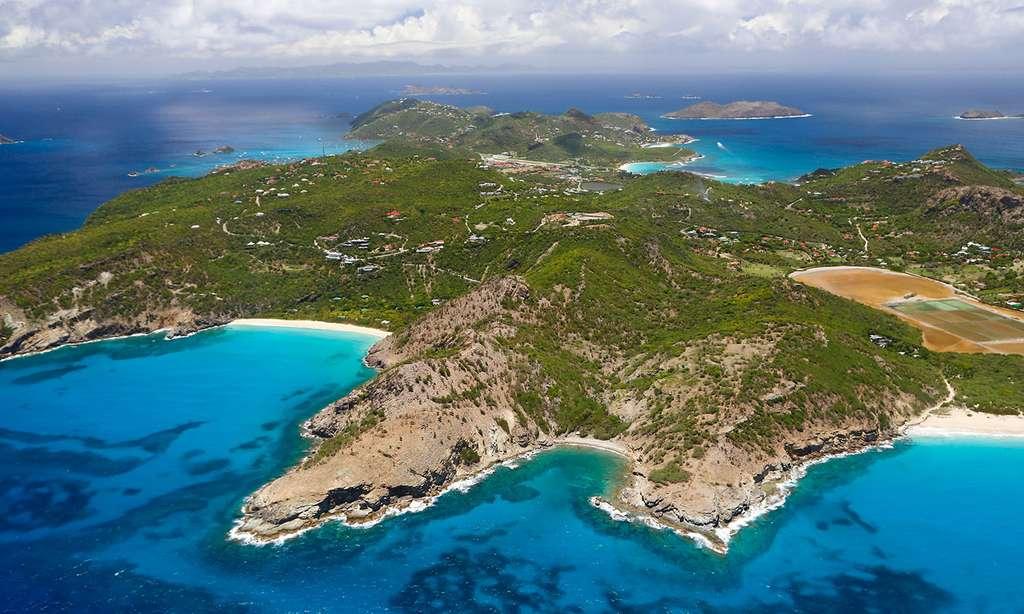 Vue aérienne de l'Anse et Pointe du Gouverneur. © Antoine, tous droits réservés