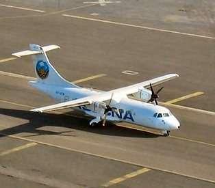 Un ATR 42 de l'ASECNA (crédit : ESA)