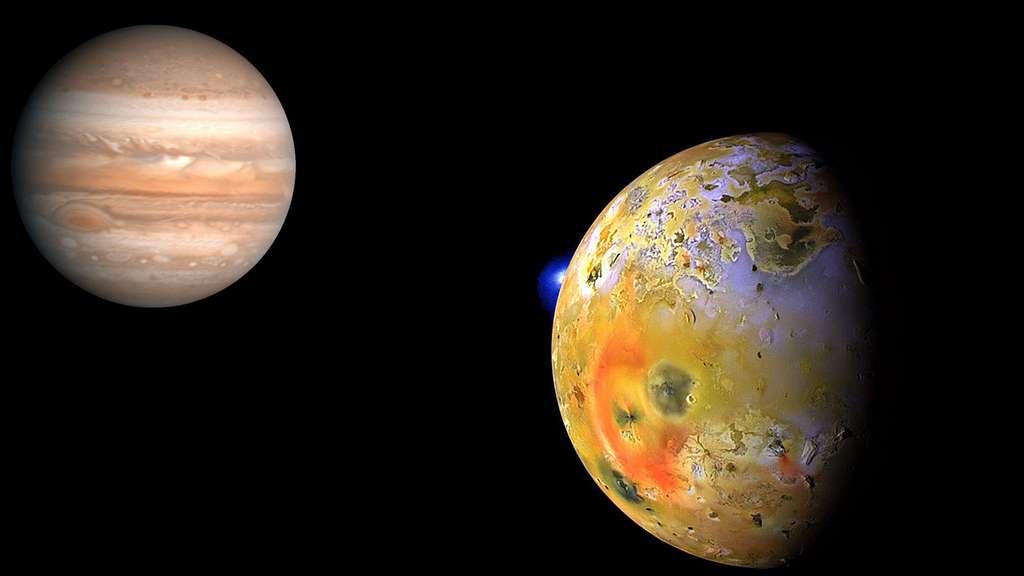 Jupiter et sa lune Io