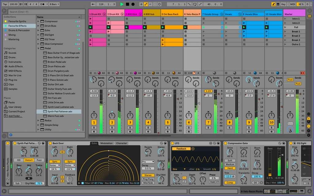 Ableton Live 10 est le logiciel indispensable pour sampler et pour créer des loops. © Ableton