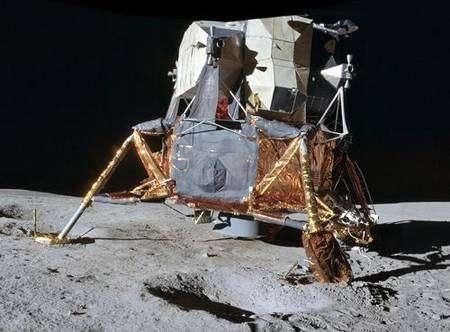 Le LM, ou Lunar Module de la NASA. Crédit NASA.
