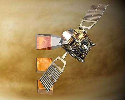 Vénus Express prête à se mettre au travail ! Enfin... Presque... (Crédits : ESA - AOES Medialab)