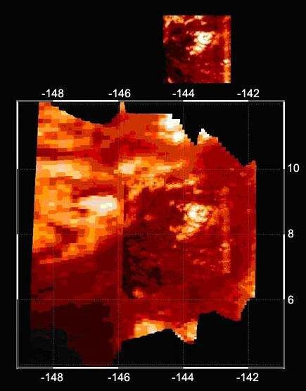 Un volcan crachant du méthane sur Titan?