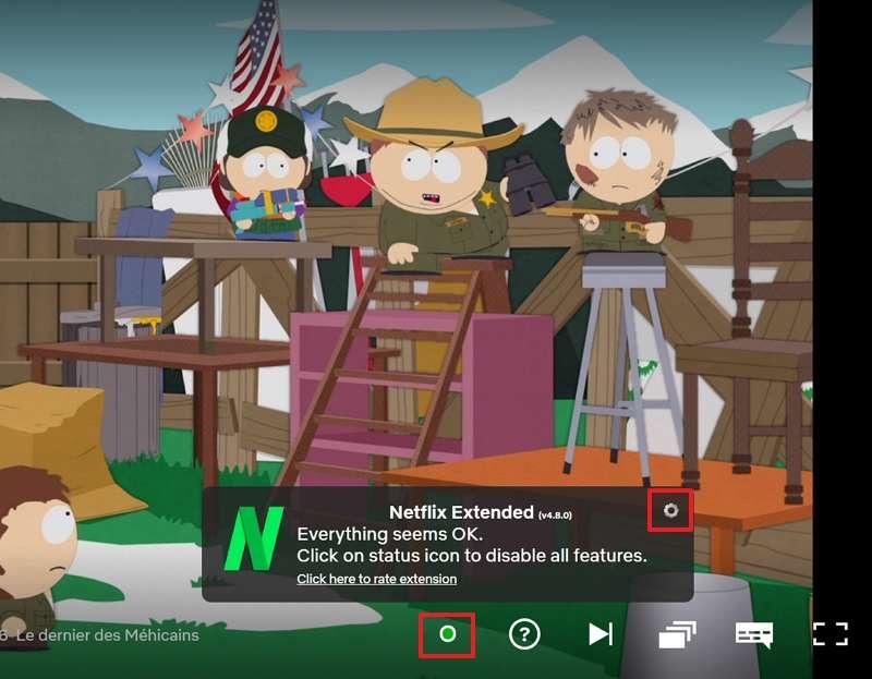 Activez ou désactivez Netflix Extended en un clic. © Netflix