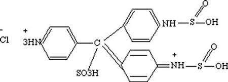 Molécule de fuchsine. © DR