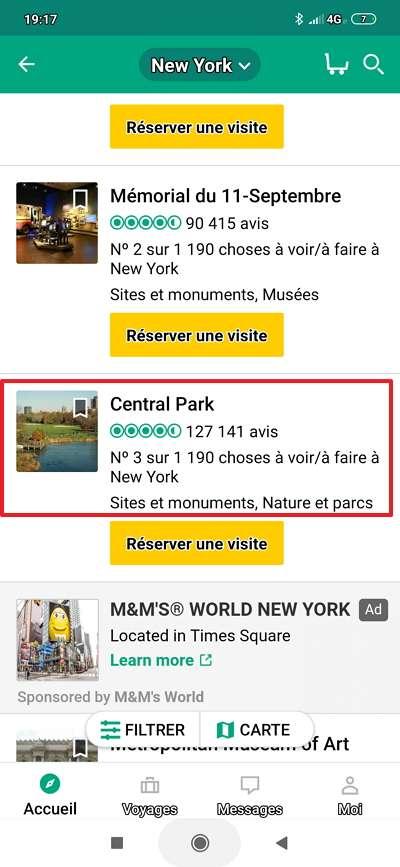 Accédez aux fiches des sites touristiques qui vous intéressent. © TripAdvisor LLC