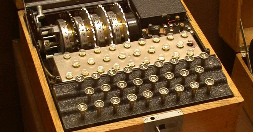 Enigma est peut-être la plus célèbre des machines à chiffrer. © Greg Goebel, Wikimedia Commons, DP